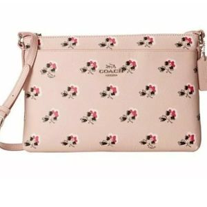 Coach Pink Floral Crossbody Bag Purse New